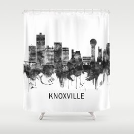 Knoxville Tennessee Skyline BW Shower Curtain