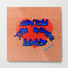 John 3:16 Graffiti Metal Print