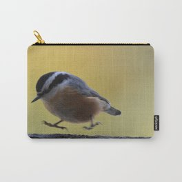 Red Breasted Nuthatch - Hopping Mad Carry-All Pouch
