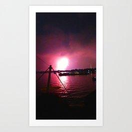Rocket's Red Glare Art Print