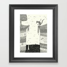 'Broken Bridge' Framed Art Print