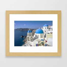 Santorini, Oia Village, Greece Framed Art Print