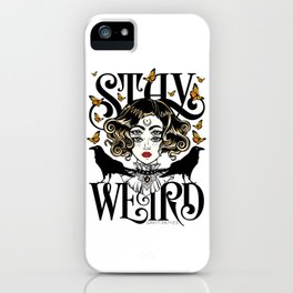 Rose and The Ravens | Stay Weird iPhone Case