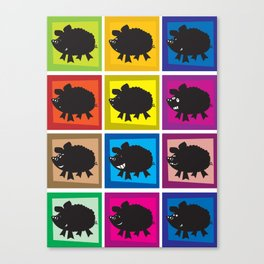 Pig in different moods Canvas Print