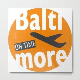 Baltimore Badge Metal Print