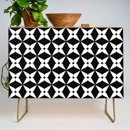 Geometric Pattern 247 (white crosses) Credenza