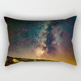 Copper Mountain Galaxy // Incredible Photograph of the Milky Way Stars and Cosmic Dust Rectangular Pillow