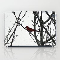 cardinal iPad Cases featuring Cardinal by Emma Nettles