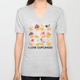 Cupcake Mania Unisex V-Neck