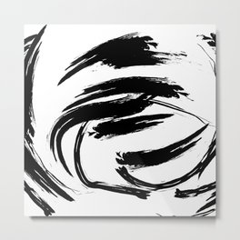 Foundry Abstract Brush Strokes 1 Metal Print