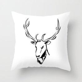 Ciervo negro Throw Pillow