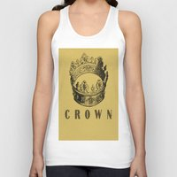 crown Tank Tops featuring Crown by NYLONPISTOL