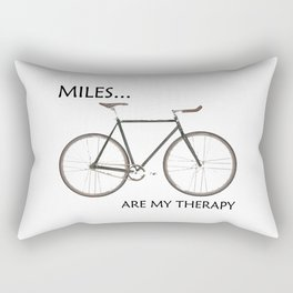 Miles Are My Therapy Rectangular Pillow