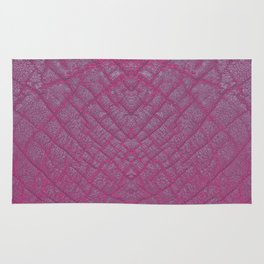 Magenta Elephant Leather Print Rug