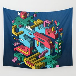 Font of all Known Ledges Wall Tapestry