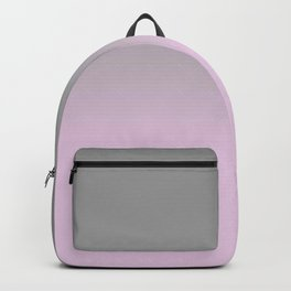Grey and Pink Gradient Ombre Fading Backpack