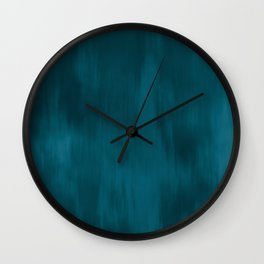 Tropical Dark Teal Inspired by Sherwin Williams 2020 Trending Color Oceanside SW6496 Fusion Water Color Blend Wall Clock