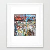 door Framed Art Prints featuring DOOR by  ECOLARTE