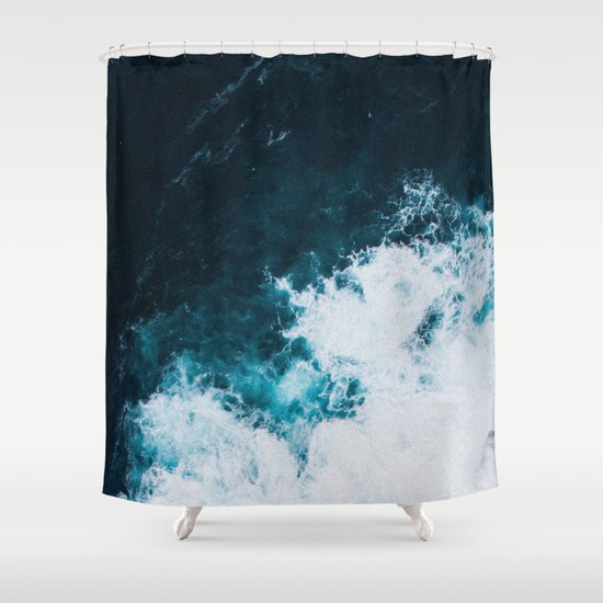 wild ocean waves ii shower curtainlostfog co↟ | society6