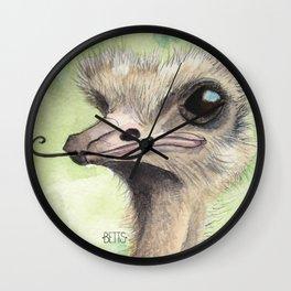 Ostrich 'Stache Wall Clock