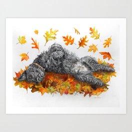 Scottie Dog Fall Fun Art Print