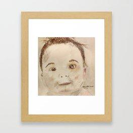 Baby bathtime Framed Art Print