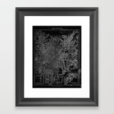 Los Angeles, California, Circa 1908. Framed Art Print