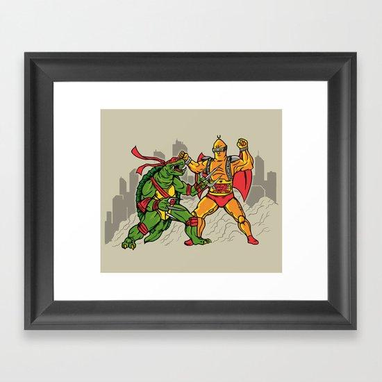 Teenage Mutant Gamera Ninja Framed Art Print