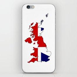 United Kingdom Map and Flag iPhone Skin