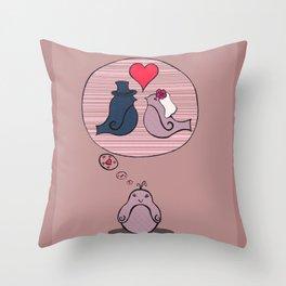 Tagträumer - Vogelhochzeit Throw Pillow