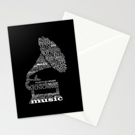 Invert gramophone Stationery Cards