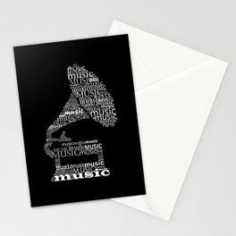 Invert gramophone Stationery Cards