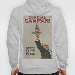 Vintage 1920 Cordial Campari Advertisement by Luigi Caldanzano Hoody