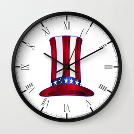 Uncle Sam's Tall Hat Wall Clock