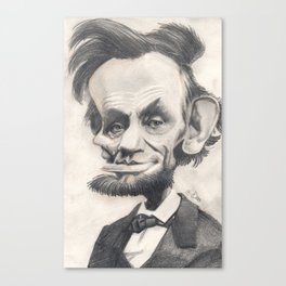 Abraham Lincoln, caricature. Canvas Print