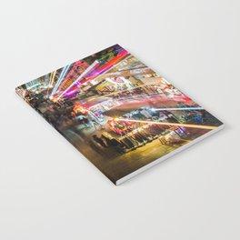 Neon Lights at the Hong Kong Night Market Notebook