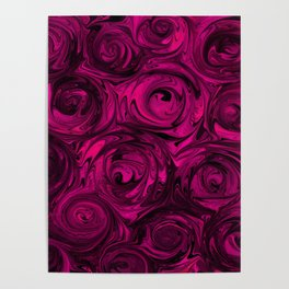 Berry Fuchsia Roses Poster