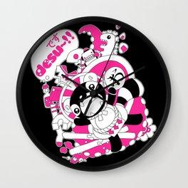 Desu~!!: Pink Wall Clock