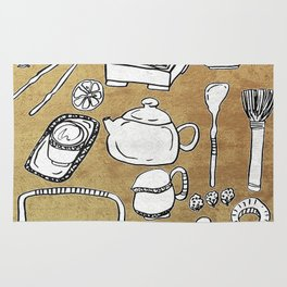 Chinese Tea Doodle 1 Rug