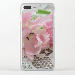 Ruffed Petals Clear iPhone Case