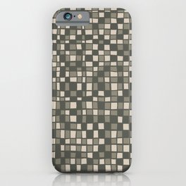 Mosaic pattern in Gray Green Color iPhone Case
