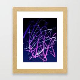 Expressive Deep Magenta and Violet Indigo Abstract Framed Art Print