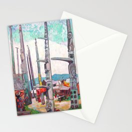Emily Carr - Totem Poles, Kitseukla - Canada, Canadian Oil Painting - Group of Seven Stationery Cards