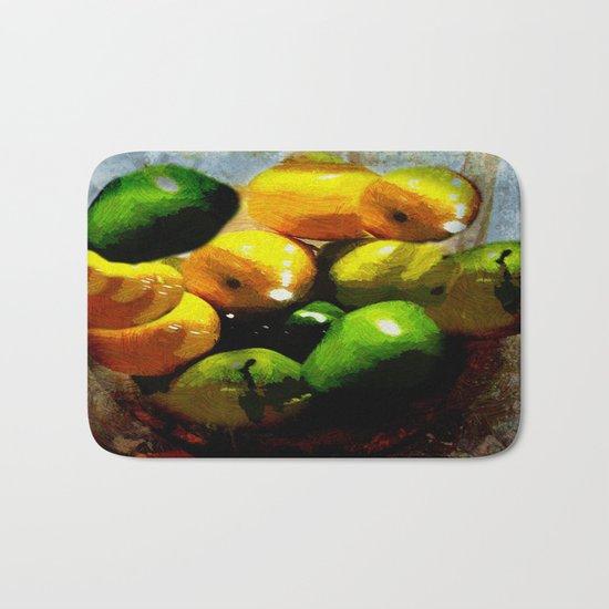 Lemons and Pears Bath Mat