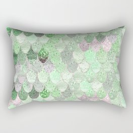 SUMMER MERMAID - GREEN & PINK Rectangular Pillow