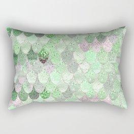 SUMMER MERMAID - GREEN & PINK Rectangular Pillow
