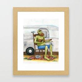 Ukulele Monster Framed Art Print