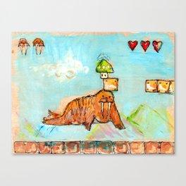 1-Up Walrus Canvas Print