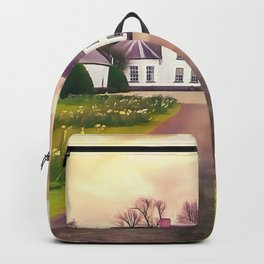 Springhill house, Moneymore, Ireland. (Painting.) Backpack