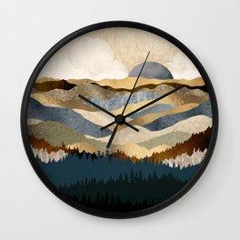 Golden Vista Wall Clock